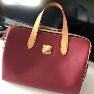 Dooney & Bourke Olivia Cranberry Satchel
